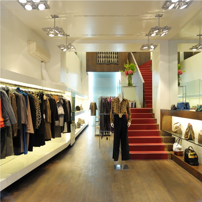 Example of a clothes shop