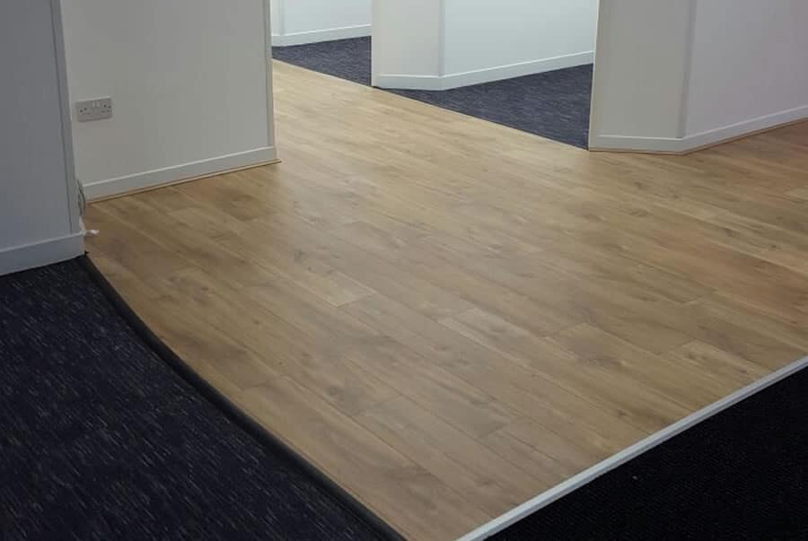 Office Flooring installed by ABC