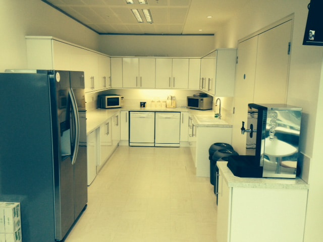 Kitchen area fully fitted and installed by ABC
